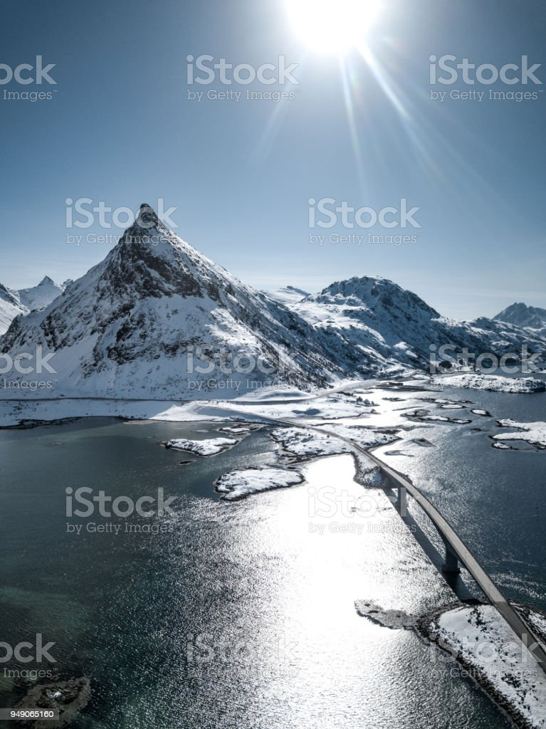 Scenic routes in Northland - the north side of Norway stock photo