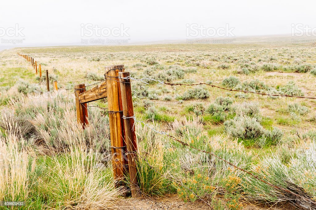 Scenic Rural  Wyoming Nature Landscape Background in Western USA stock photo