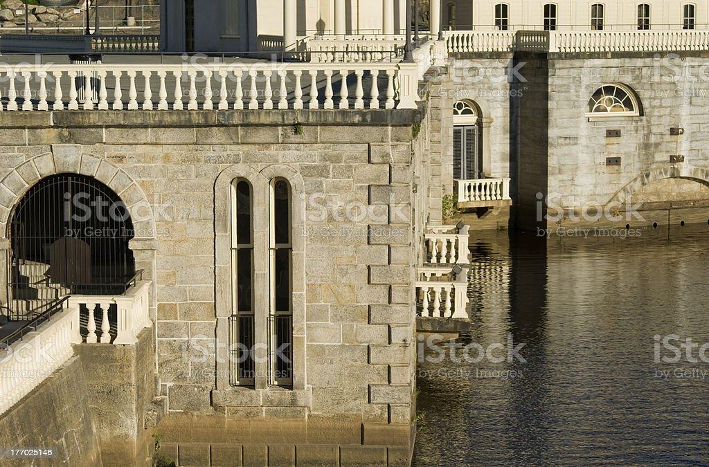 Scenic Schuylkill River in Philadelphia royalty-free stock photo