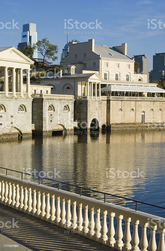 Scenic Schuylkill River in Philadelphia royalty-free stock photo