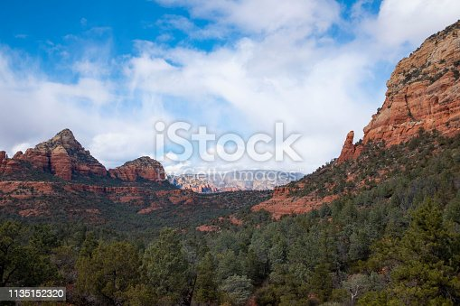 Horizontal Landscape view of the red rock scenery in Sedona Arizona