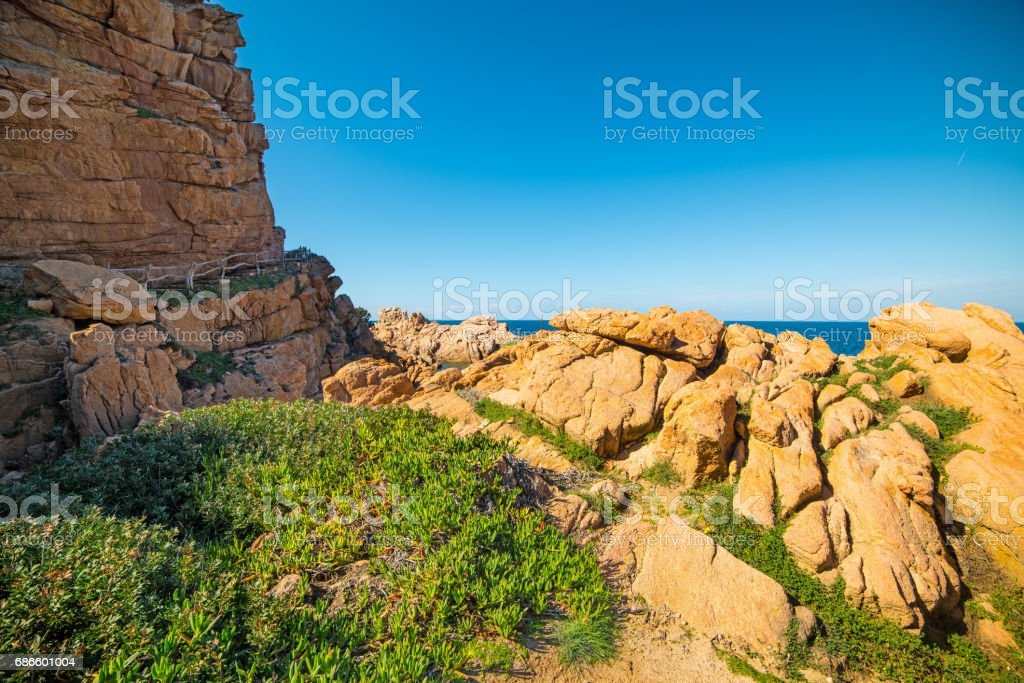 Scenic shore in Sardegna royalty-free stock photo