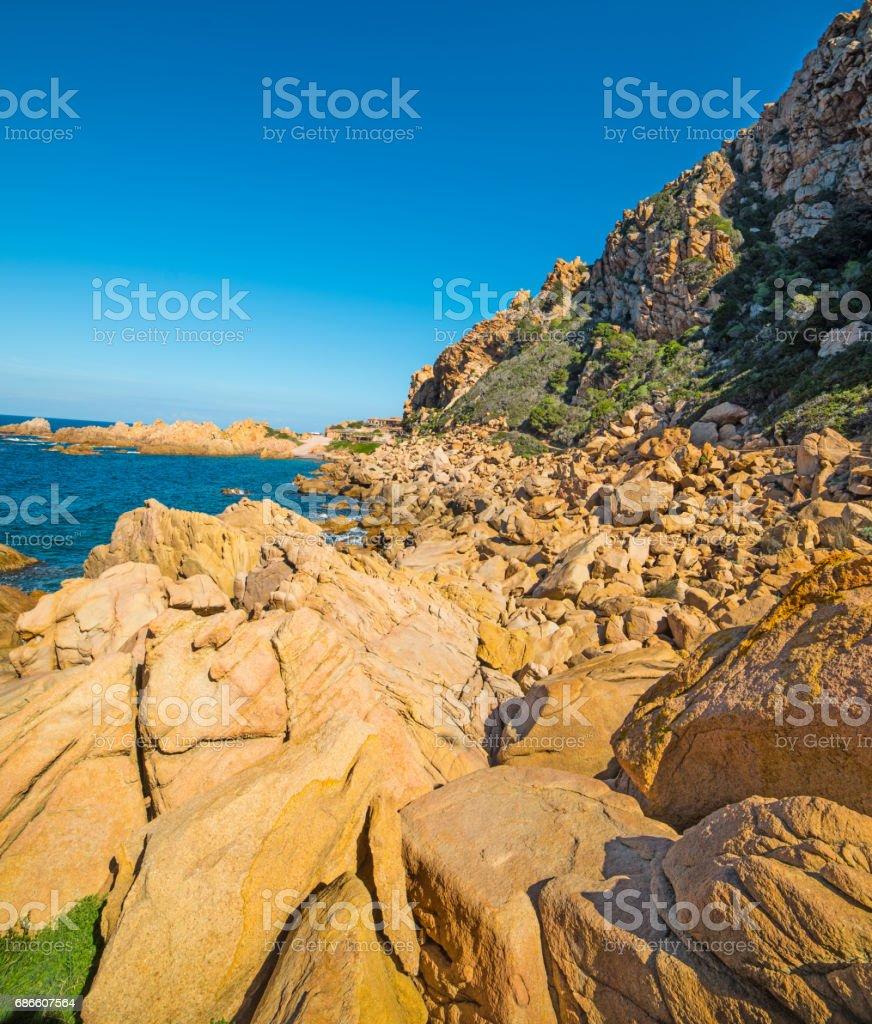 Scenic shore in Sardinia royalty-free stock photo