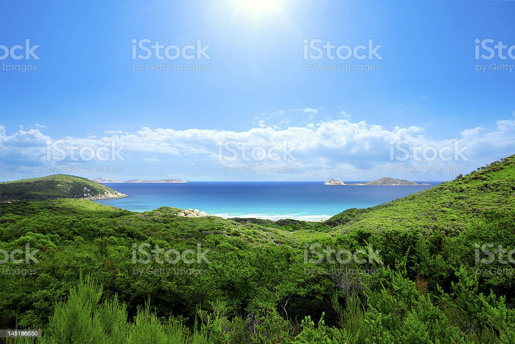 Scenic shot capturing a beautiful beach royalty-free stock photo