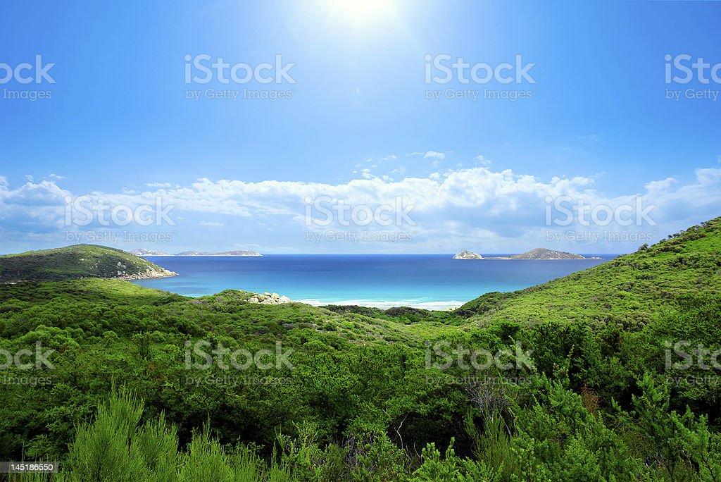 Scenic shot capturing a beautiful beach stock photo