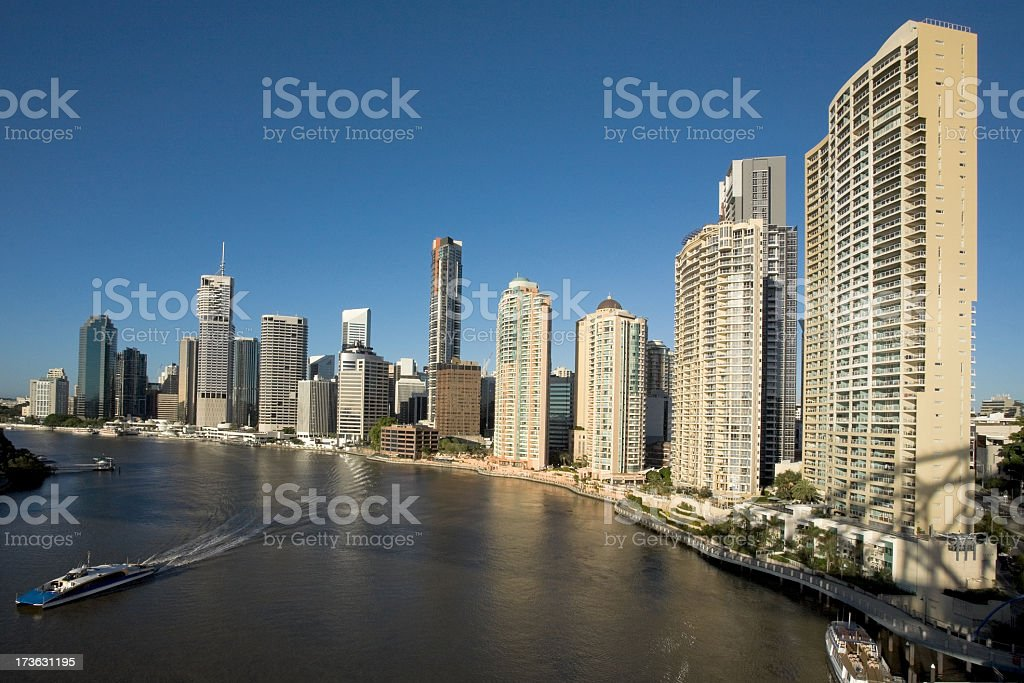 Scenic shot of the skyline in Brisbane royalty-free stock photo