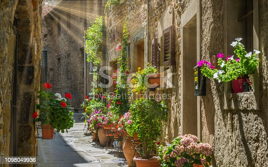 Scenic sight in Anghiari, in the Province of Arezzo, Tuscany, Italy.