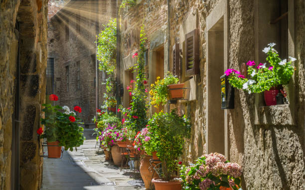 Scenic sight in Anghiari, in the Province of Arezzo, Tuscany, Italy. Scenic sight in Anghiari, in the Province of Arezzo, Tuscany, Italy. arezzo stock pictures, royalty-free photos & images