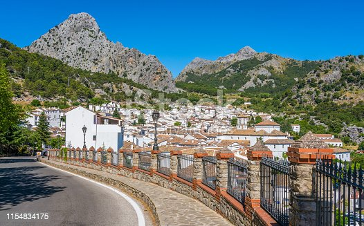 Scenic sight in Grazalema, province of Cadiz, Andalusia, Spain.