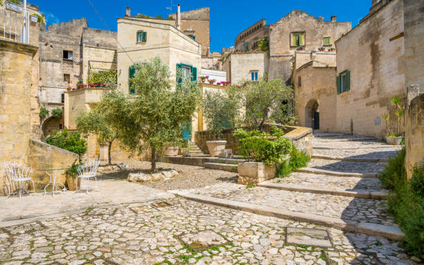 Scenic sight in Matera, Basilicata, southern Italy. Scenic sight in Matera, Basilicata, southern Italy. matera italy stock pictures, royalty-free photos & images