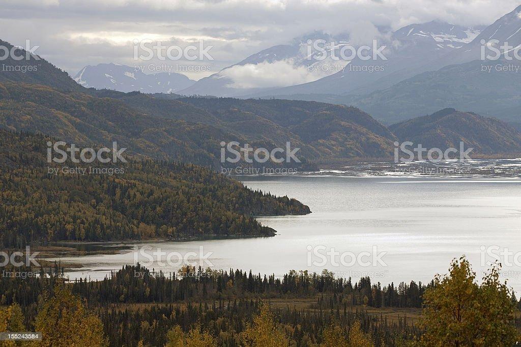 Scenic Skilak Lake September stock photo