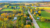 istock Scenic Small Town Nestled Amid Fertile Valley In Beautiful Rural Wisconsin 1189177350