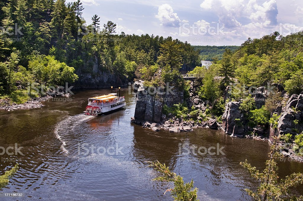 Scenic St. Croix River stock photo