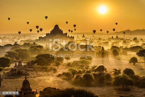 istock Scenic sunrise above Bagan in Myanmar 528067976