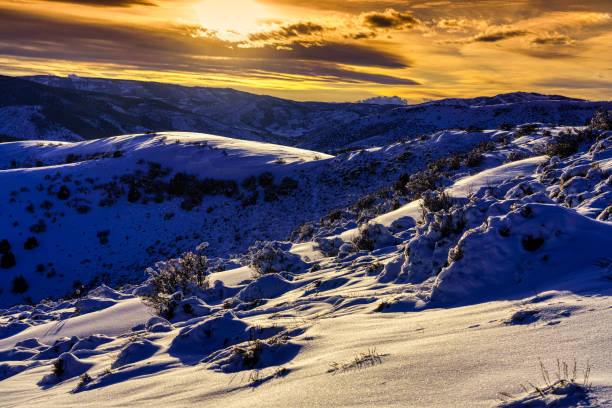 Scenic SunSet and Snowy Hills Scenic SunSet and Snowy Hills - Mountain views with fresh snow. avon colorado stock pictures, royalty-free photos & images