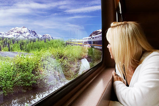 Scenic Train Ride  dazzled stock pictures, royalty-free photos & images
