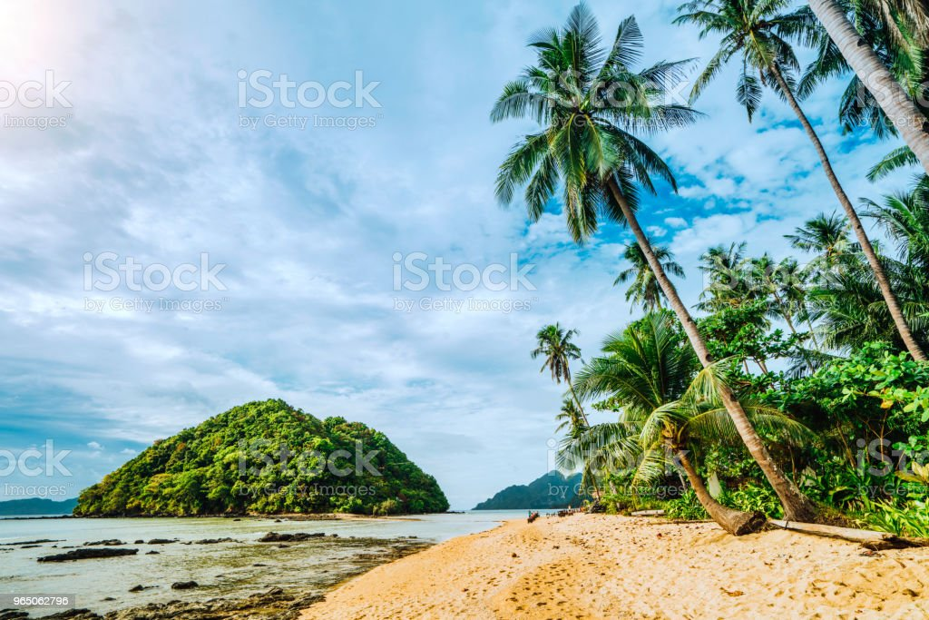 Scenic tropical beach, El Nido Palawan Philippines royalty-free stock photo