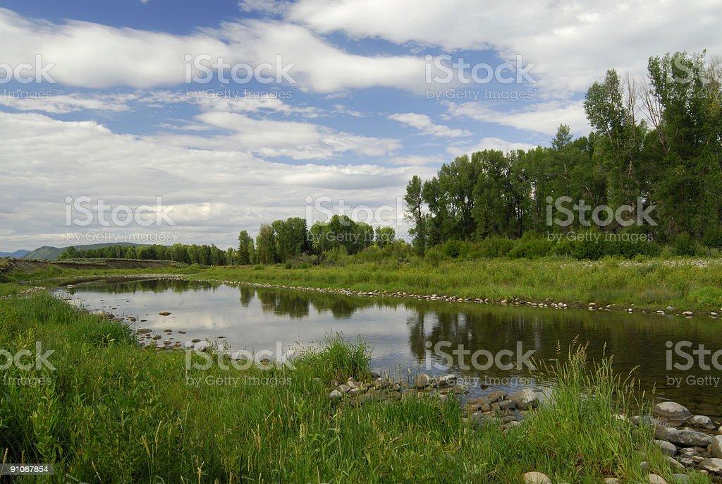 Scenic View at Grand Teton royalty-free stock photo