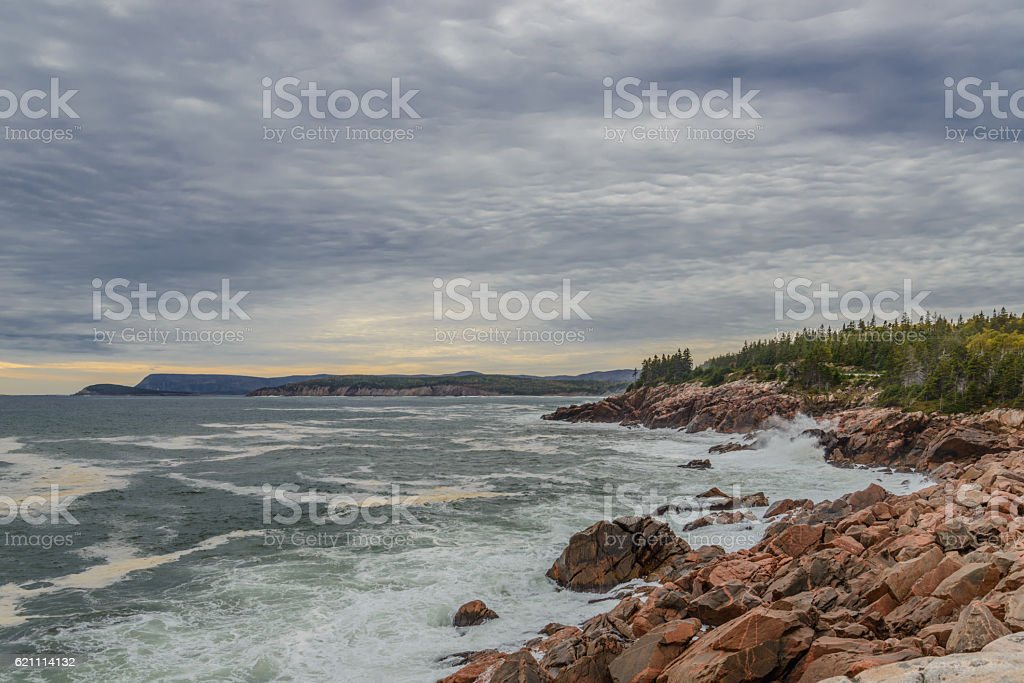 Scenic view at Highlands National Park stock photo