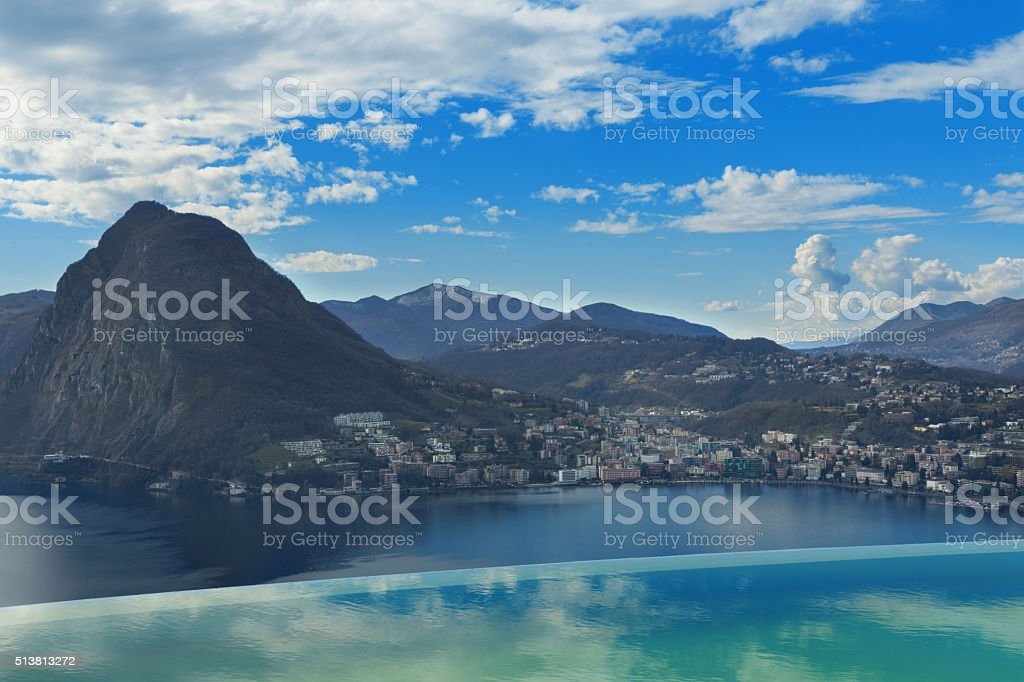 scenic view from a penthouse stock photo