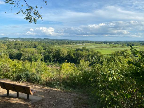 Scenic View from Bluff View Trail - Wildwood, MO, USA stock photo