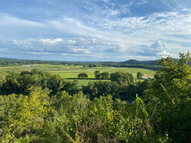 Scenic View from Bluffview Trail Scenic Overlook - Wildwood, MO stock photo