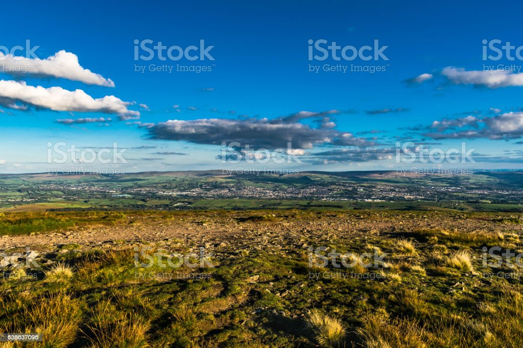 Scenic View From Pendle Hill, East stock photo