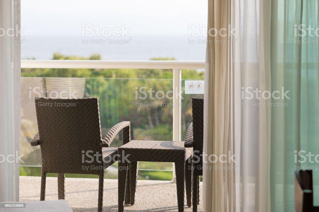 scenic view from the balcony zbiór zdjęć royalty-free