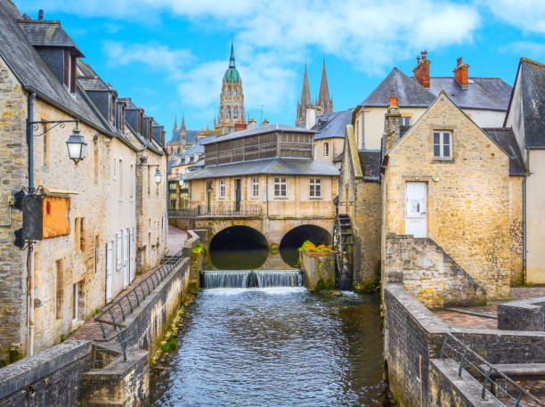 Scenic view in Bayeux, Normandy, France. Scenic view in Bayeux, Normandy, France. normandy stock pictures, royalty-free photos & images