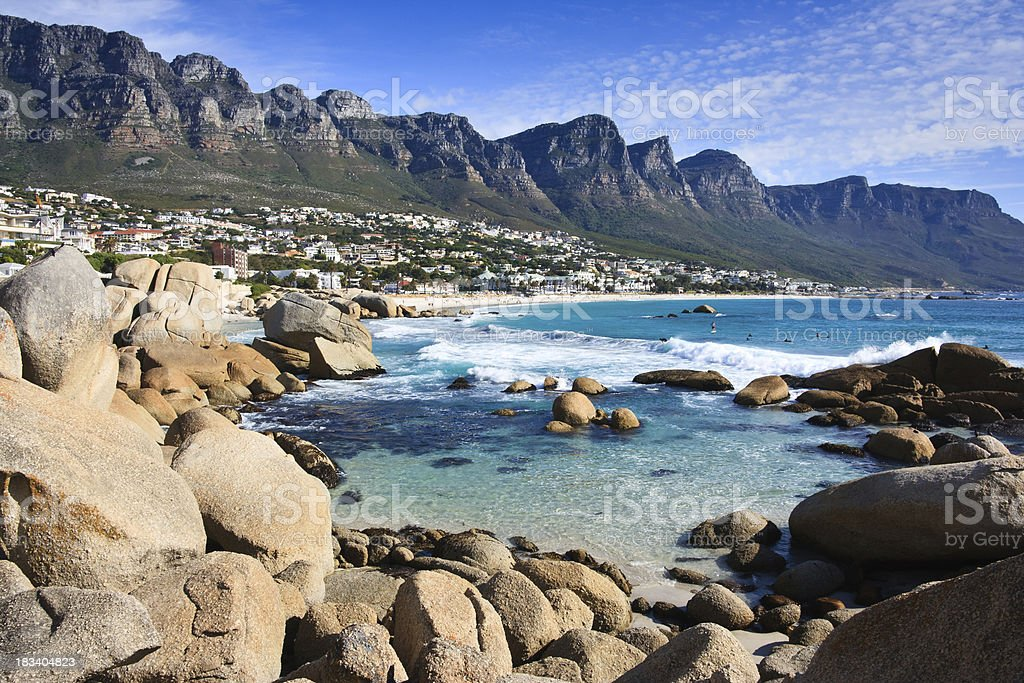 Scenic View in Cape Town stock photo
