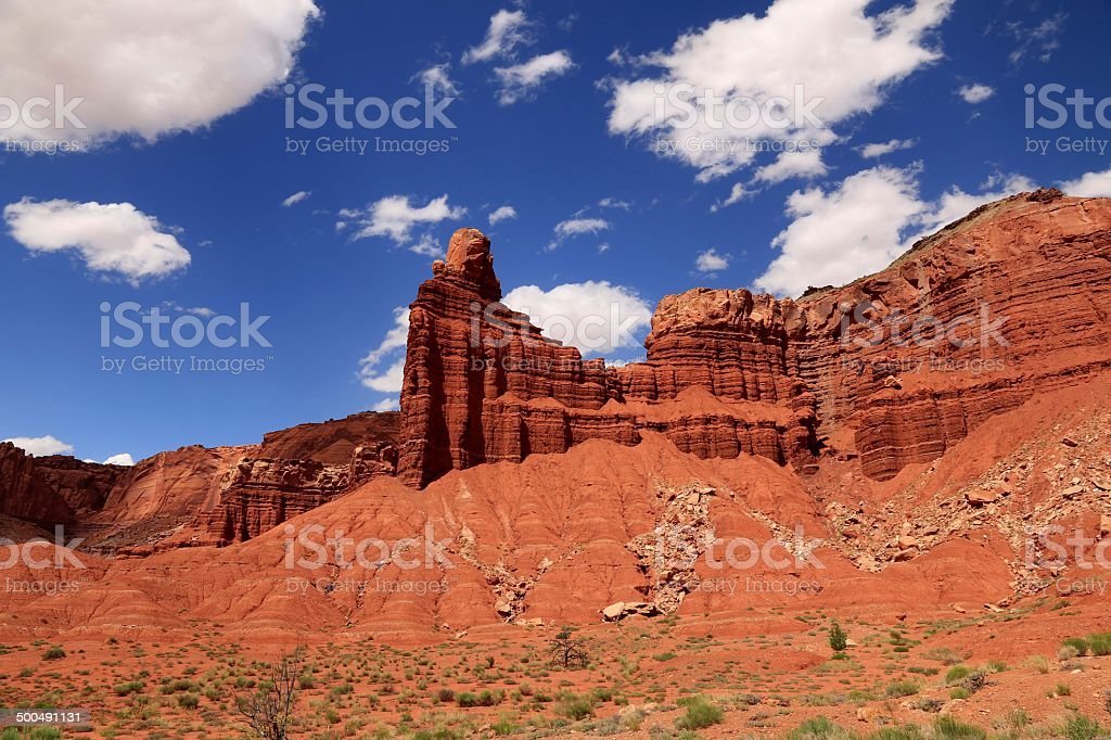 Scenic view in Capitol Reef National Park, Utah, USA stock photo