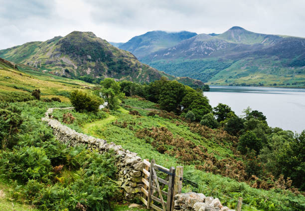 Scenic view in Lake District National Park stock photo