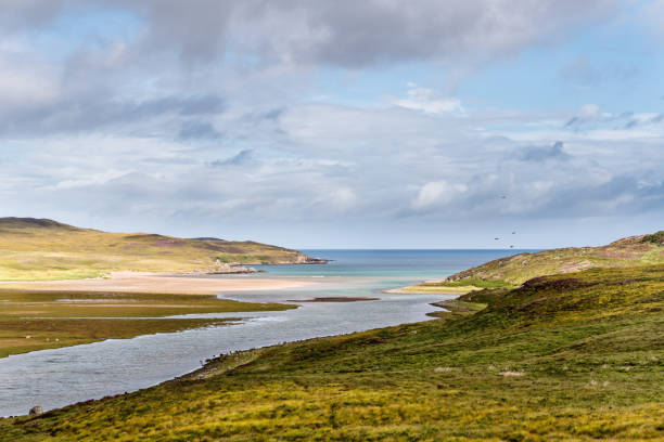 Scenic view in northern Scotland stock photo