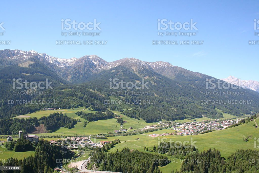 Scenic View in Osttirol, Austria during summer season. royalty-free stock photo