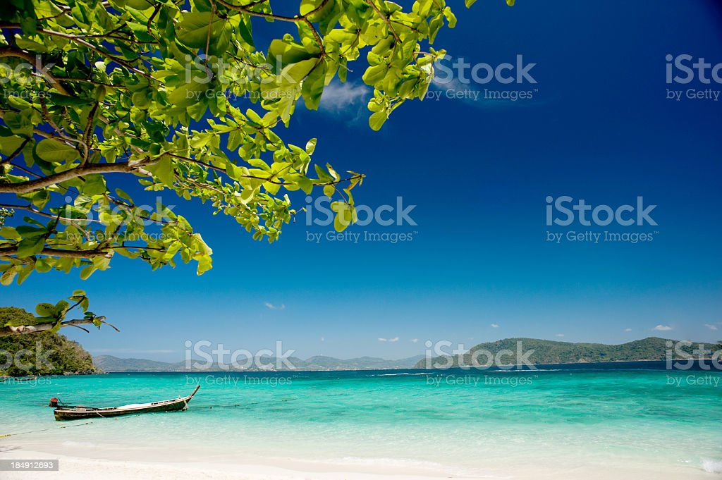Scenic view of a beautiful beach stock photo