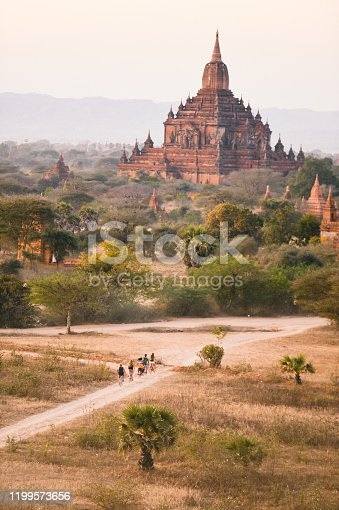 Scenic view of antient Sulamani temple at sunrise, Bagan Myanma tavel asia theme nature backgound