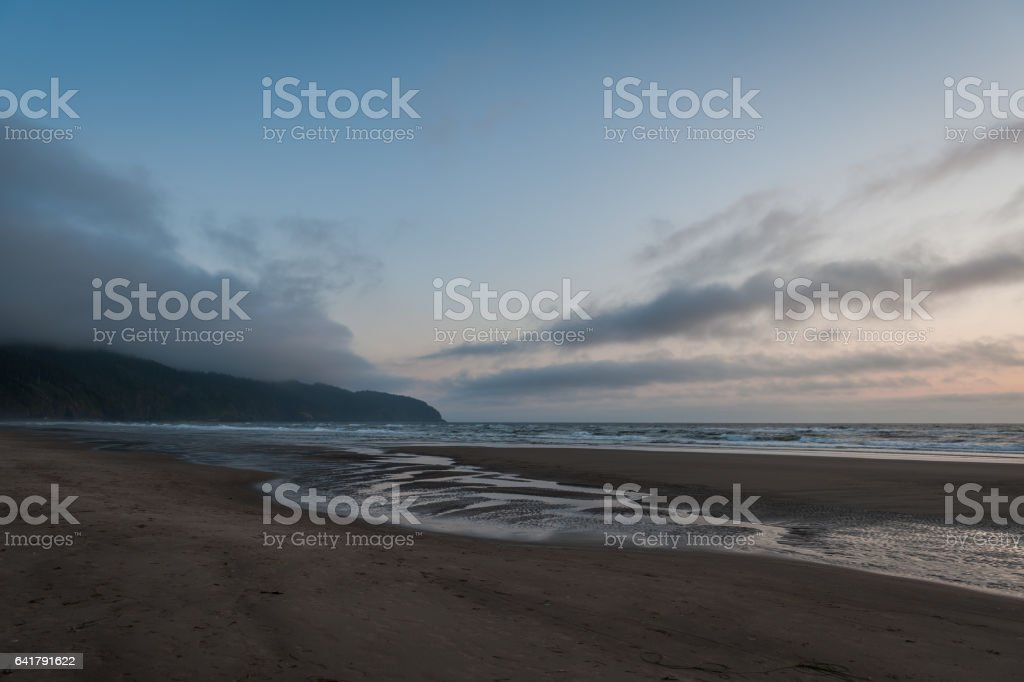 scenic view of Cape Lookout beach stock photo