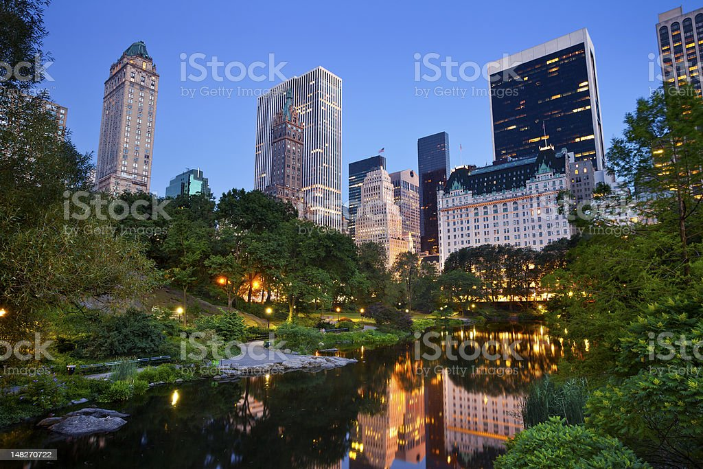 Scenic view of Central Park and the Manhattan skyline royalty-free stock photo