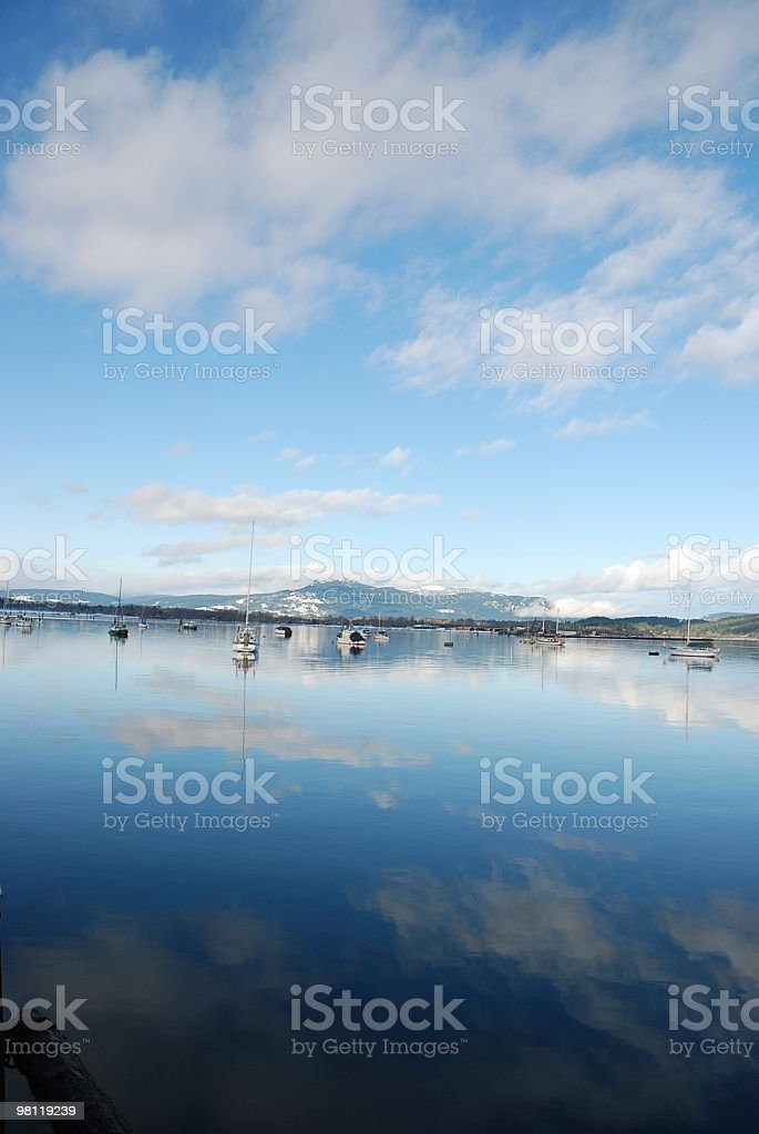Scenic view of Clouds Reflecting on the Sea royalty-free stock photo