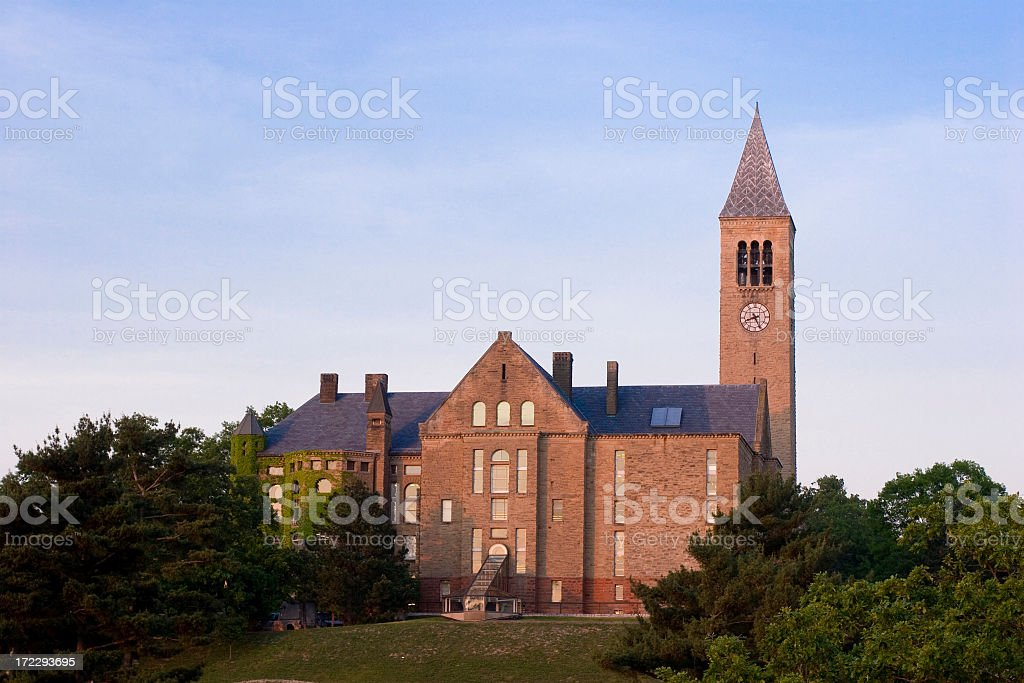 A scenic view of Cornell University stock photo