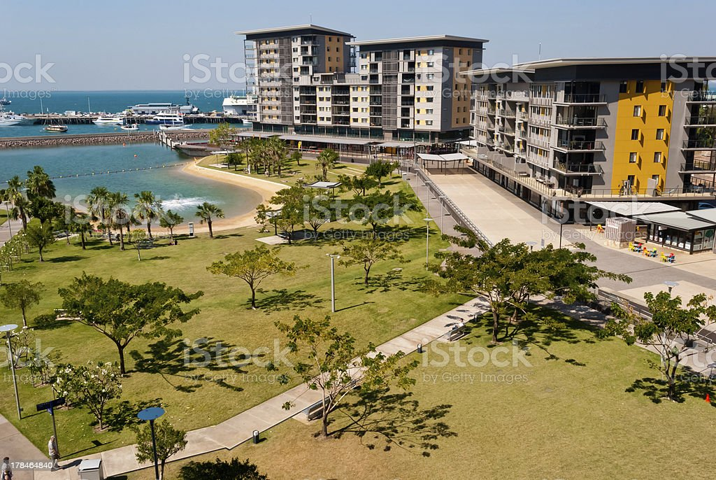 Scenic view of Darwin City Waterfront stock photo