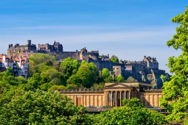 Malerische Ansicht von Edinburgh Castle, Schottland – Foto