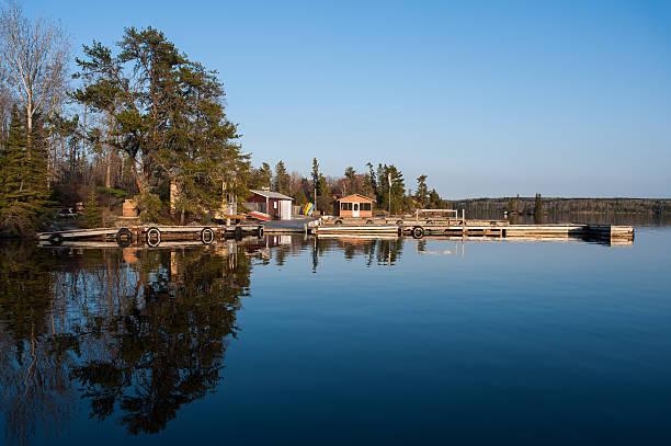 Scenic view of fishermen houses stock photo