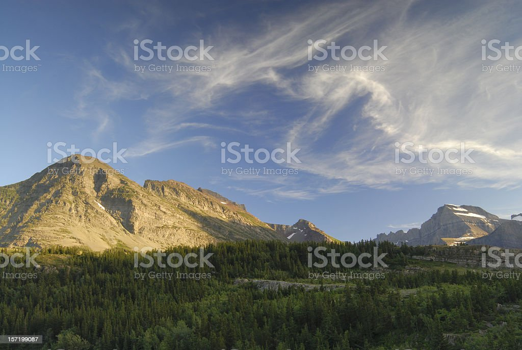 Scenic View of Glacier National Park 4 royalty-free stock photo