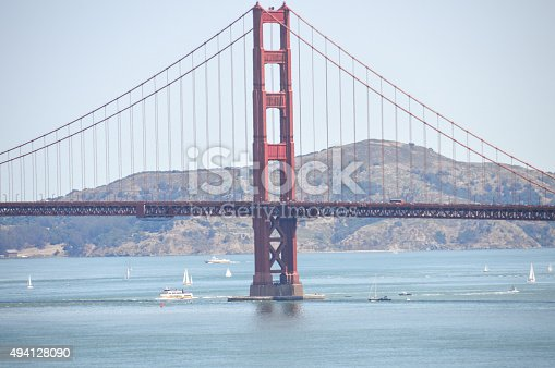 istock Scenic view of Golden Gate Bridge from Lands End Trail 494128090