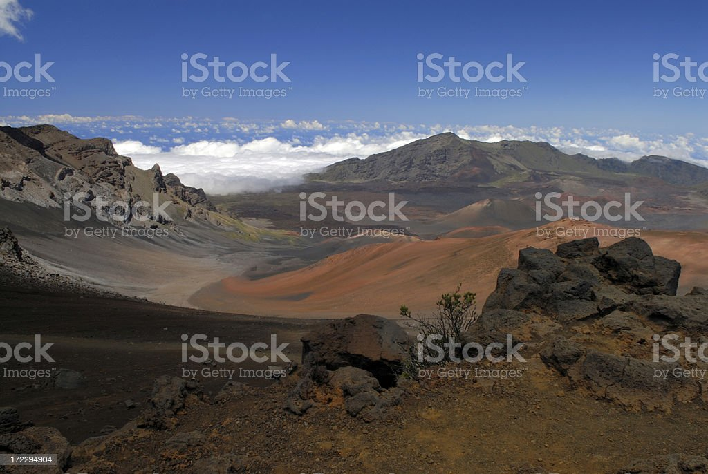 Scenic View of Haleakala National Park royalty-free stock photo