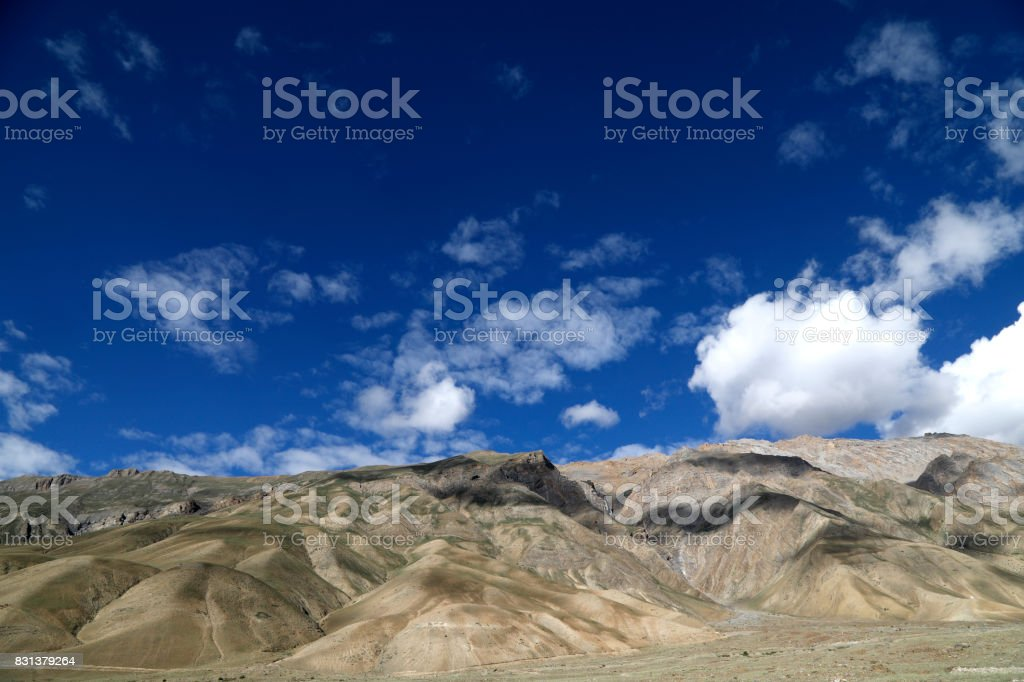 Scenic view of Himalayas stock photo