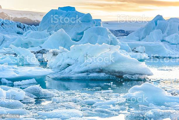 Scenic View Of Icebergs In Glacier Lagoon Iceland Stock Photo - Download Image Now