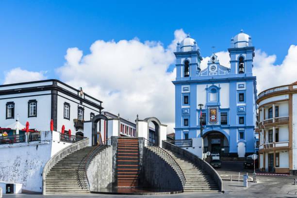 Malerische Aussicht auf Igreja da Misericordia, Angra Heroismo, Terceira, Azoren – Foto