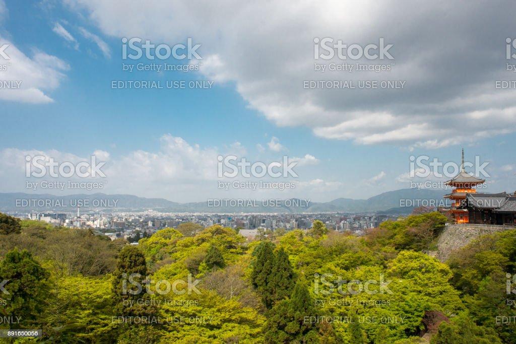 Scenic view of Kyoto in spring stock photo